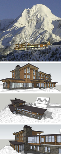 mica heli skiing new lodge