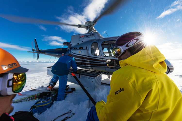 On Top of the World at Last Frontier Heliskiing